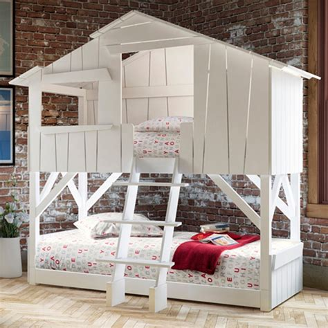 Childrens White Bunk Beds Treehouse Bunk Bed White Mathy By Bols Diddle Tinkers