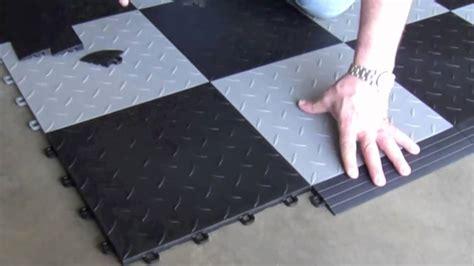 garagenboden fliesen interlocking floor tiles installing