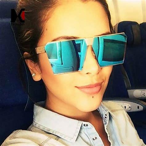Kacamata Sunglass Flat Mewah lensa merah muda promotion shop for promotional lensa