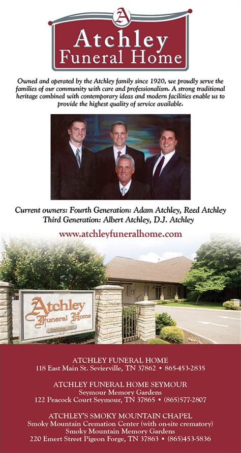 christians in business atchley funeral home details