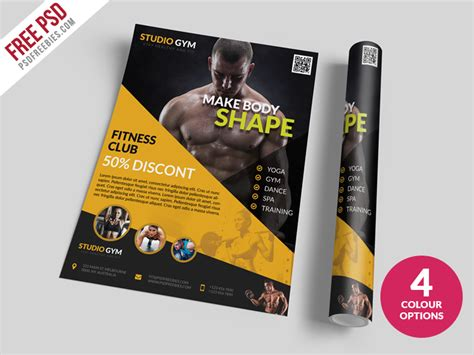 templates bodybuilder for photoshop download health and fitness flyer bundle free psd psdfreebies com