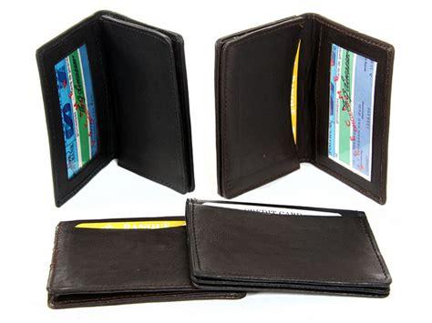 design id card holder leather credit card id holder slim design black men s