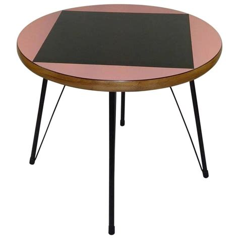 pink dining table pink and black mid century rockabilly dining table for