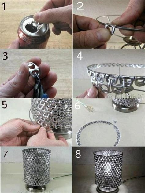 diy projects with soda cans soda can tab projects diy lshade craft