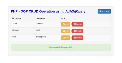 tutorial php oop crud php oop crud operation using ajax jquery free source