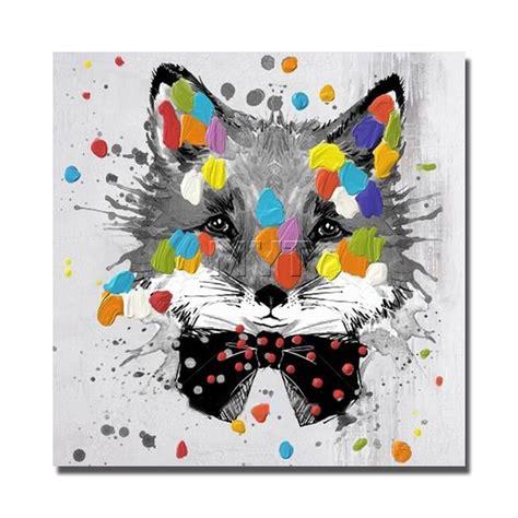 Cat Akrilik Gouache animal painting on canvas house painting
