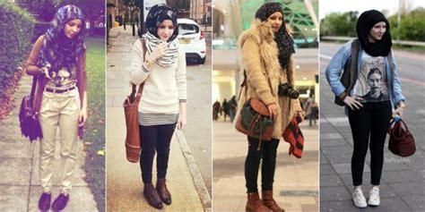 model hijab  pantai