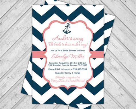 printable nautical bridal shower invitations navy and coral wedding shower invitations nautical