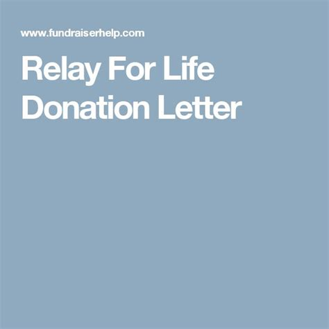 Donation Letter Relay For Best 25 Fundraising Letter Ideas On Fundraising Non Profit Fundraising Ideas And