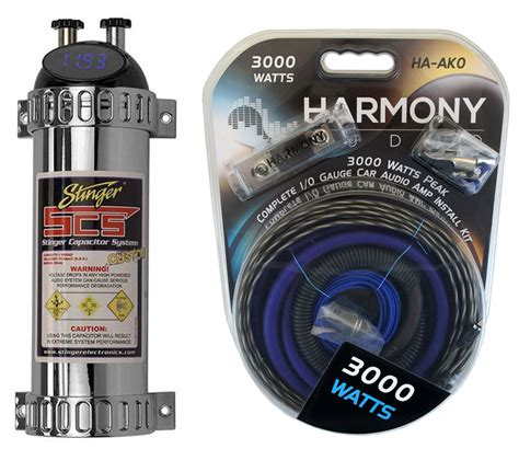 car audio capacitor info car audio capacitor install package includes stinger shk4141 1 0 kit closeout