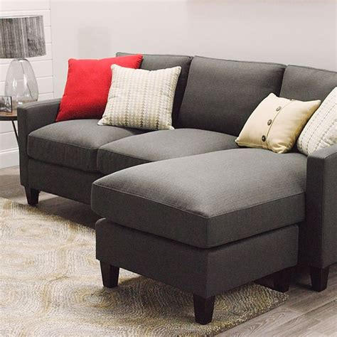 charcoal gray sectional sofa charcoal gray textured woven abbott sofa corner unit