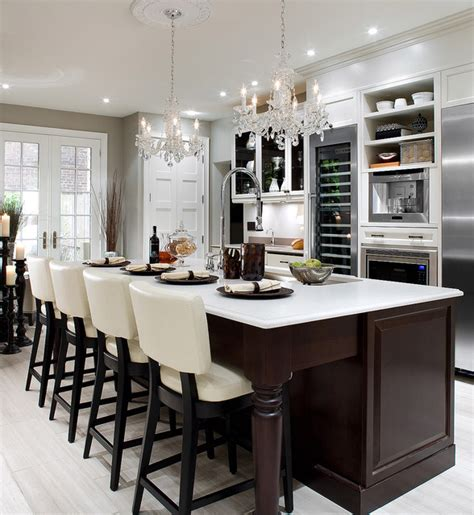 Bar Stool Kitchen Island by Candice Olson Design Contemporary Kitchen Toronto