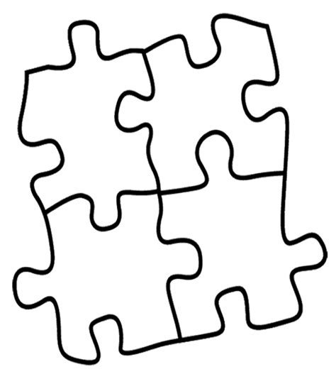 autism puzzle template puzzle clipart coloring page pencil and in color puzzle