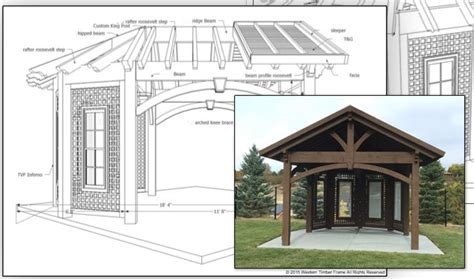 plans perspectives and elevations of timber pavilions home show inspiration install custom gazebo pavilion plan
