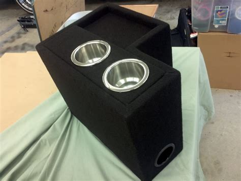 Speaker Box Advance custom made center console subwoofer box with cup holders