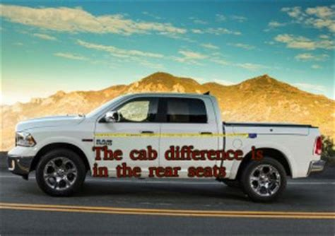 difference between dodge ram cab and crew cab autos ram 1500 cab differences