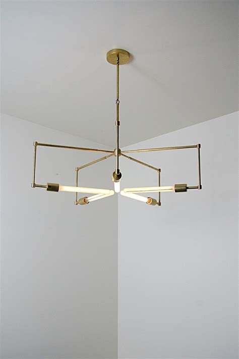 Handmade Light Fixtures - handmade brass pendant light fixture asterix brass
