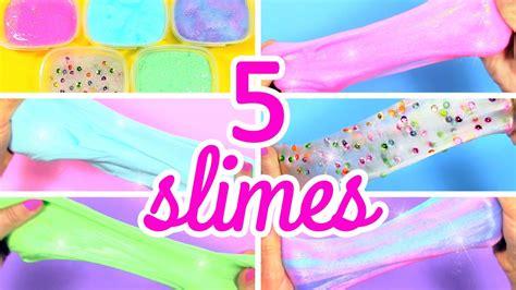 tutorial para hacer slime c 211 mo hacer slime sin b 211 rax 5 recetas youtube