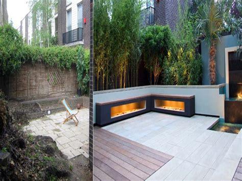 Tiered Patio Designs Small Garden Ideas Before And After Small Backyard Ideas Before After