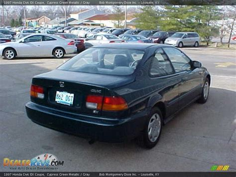 1997 honda civic ex coupe 1997 honda civic ex coupe cypress green metallic gray