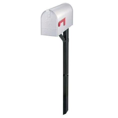 gibraltar mailboxes edmond elite white steel mailbox and