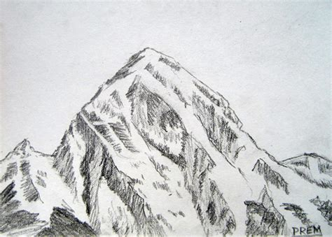 Sketches Mountains by By Prem Simple Sketches Of Mountains