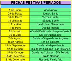 Calendario 2018 Costa Rica Calendario 2018 Costa Rica 171 Excel Avanzado