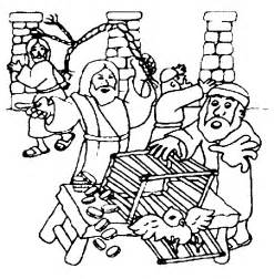 coloring pages jesus clears the temple jesus clears the temple coloring page coloring home
