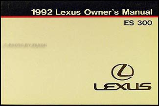 lexus es 300 2007 repair manual cars repair manuals 1992 lexus es 300 owners manual original