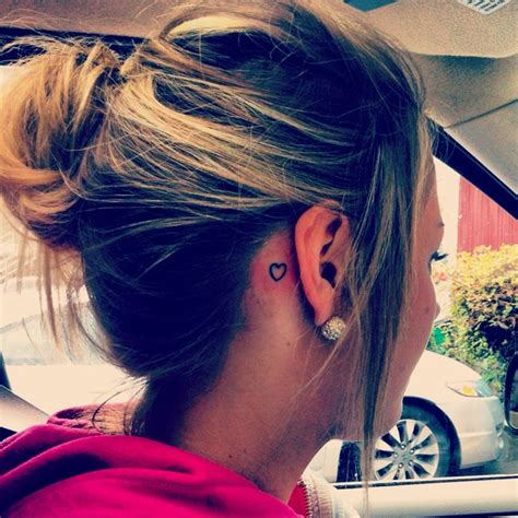 heart tattoo behind ear 25 best ideas about deaf on sign