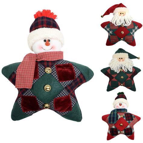 Patchwork Santa - 30cm festive shaped snowman santa patchwork