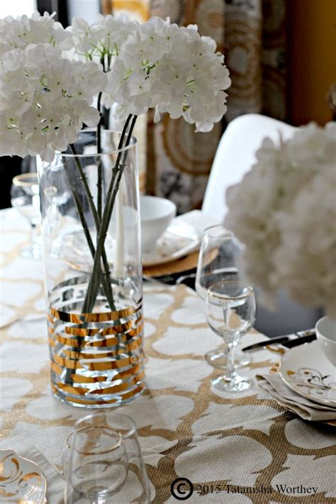 gold table centerpieces how to redo your dining room on a budget