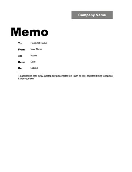 business memo template word memos office