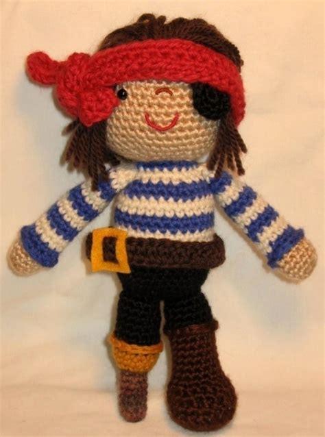 knitting pattern for a pirate doll pirate doll pdf amigurumi crochet pattern