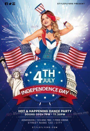 independence day flyer independence day psd flyer template 19704 styleflyers