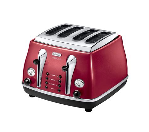 Delonghi Micalite Toaster buy delonghi micalite ctom4003r 4 slice toaster free delivery currys