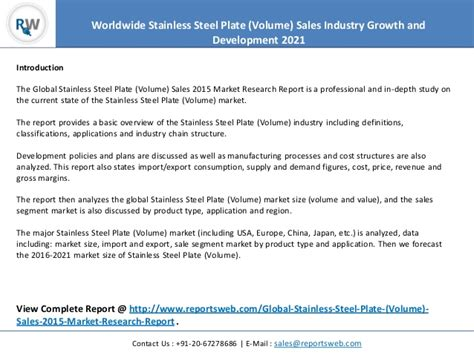 market research sle report 2021 stainless steel plate volume sales industry report