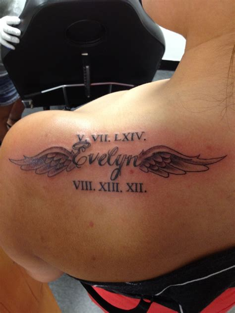tattoo placement for names memorial tattoo love the placement and the name in