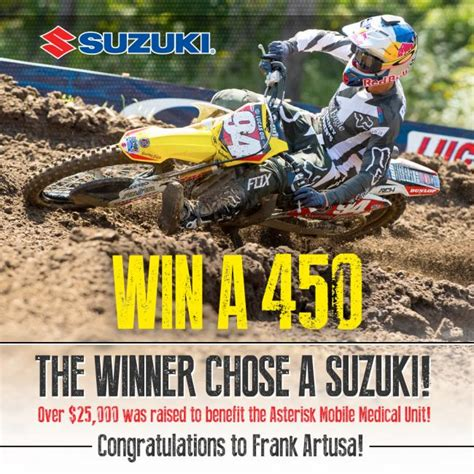who won the motocross race mx sports pro racing announces win a 450 recipient to