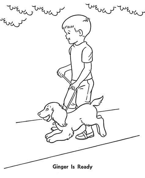Walking Dog Coloring Page | boy playing with dog coloring page az coloring pages