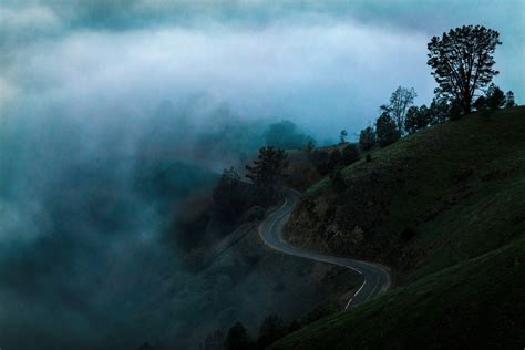 bitcoin fog tutorial road on the hill in the fog in san jose california image