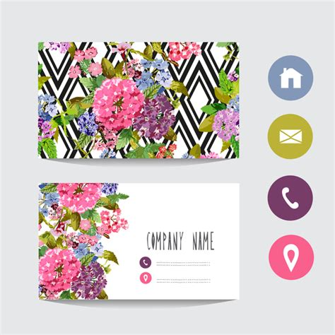 Flower Business Card Images Business Card Template Flower Business Card Template
