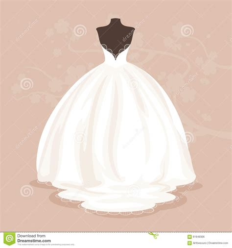 lace wedding dress clipart wedding dress vector illustration stock vector image