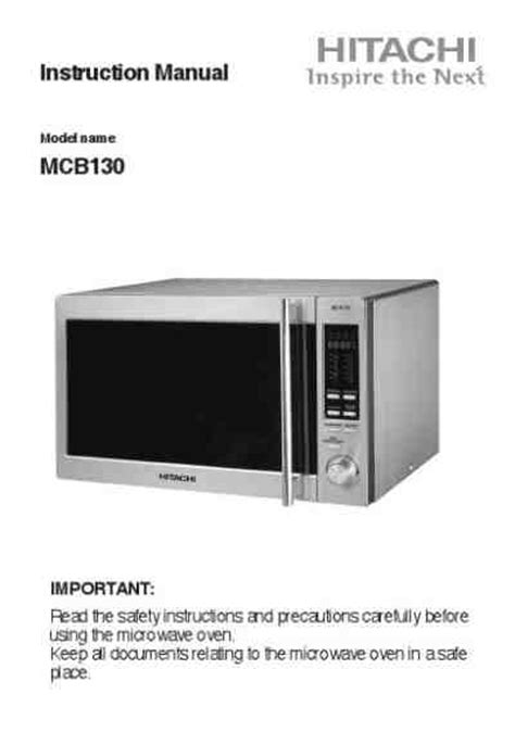 Microwave Hitachi hitachi mcb130v microwave oven manual for free