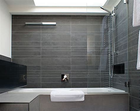Bathroom Tiles Modern Small Bathroom Gray Tile Bathroom Design Ideas