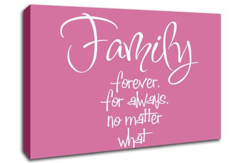 Wall Stickers For Bathrooms Uk family forever for always pink text quotes canvas