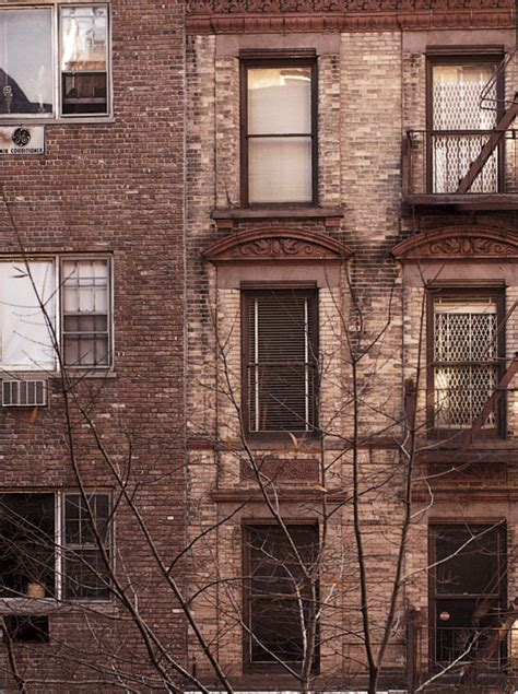 stock photo residential brick apartment building during the day