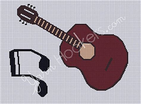 guitar pattern library download ravelry guitar music afghan crochet graph chart pattern