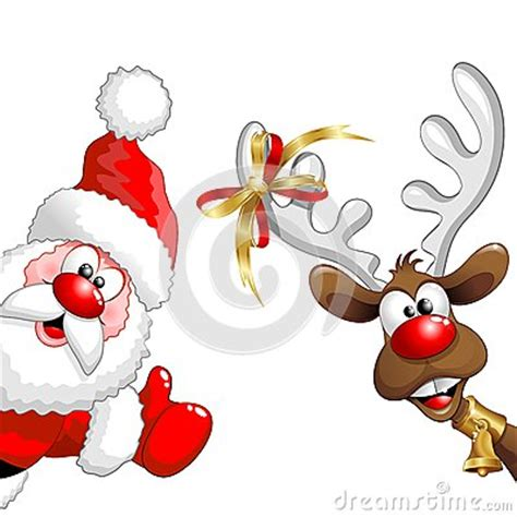 animated photos of christmas santa claus with reindeer reindeer and santa stock vector image 62923848