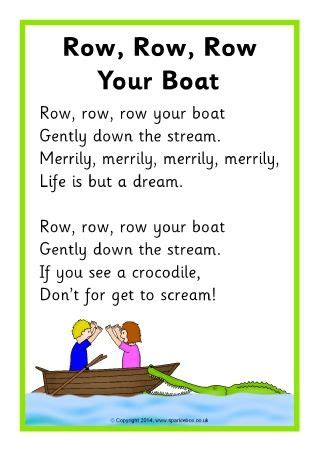 row your boat actions row row row your boat song sheet sb10945 sparklebox